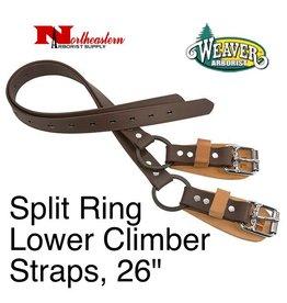 """Weaver Split Ring Lower Climber Straps, 26"""""""
