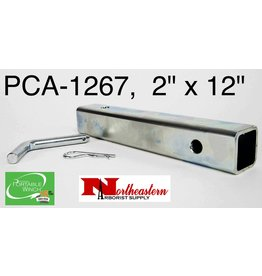 "PORTABLE WINCH CO. Anchor Tub 2"" X 12"" with Bent Pin for Category III Hitch Receiver use with PCA-1268 or PCA-1264"