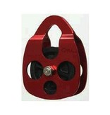 """CMI Red Anodized Aluminum sideplates, 2 3/8"""" Glass-filled Celcon sheave, n/a, and Stainless Steel axle."""