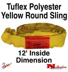 Lift-All® Tuflex Roundsling, 12 FT Yellow Polyester