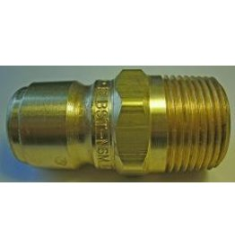 """PARKER HANNIFIN High Flow (Unvalved) Quick Nipple 3/4"""" Male Pipe Thread"""
