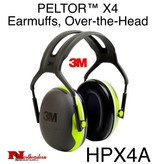 3M PELTOR X4A Over-the-Head Earmuffs