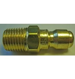 """PARKER HANNIFIN High Flow (Unvalved) Quick Nipple 1/4"""" Male Pipe Threads"""