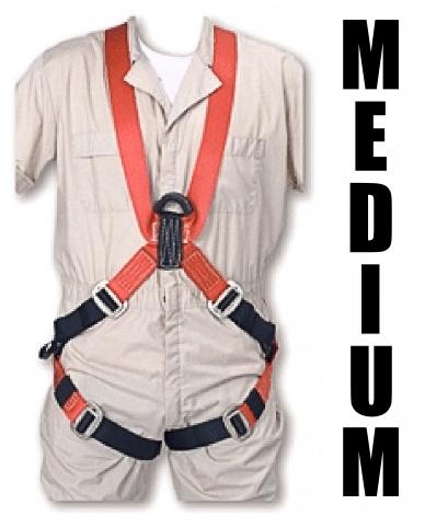 "Bashlin Full Body Harness, 683XC Series: ""X"" Style, Medium"