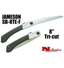 """Jameson Hand Saw, Folding Tri-cut 8"""" Blade"""