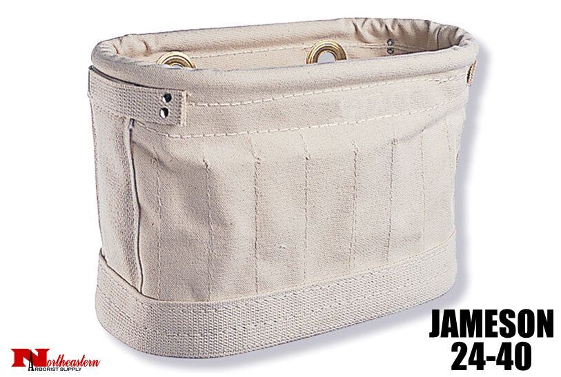 Jameson Canvas tool bag with 15 inside pockets and 2 grommets for S hooks (not included).