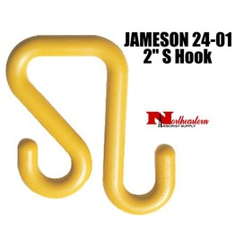 """Jameson S Hook, 2"""" to hang Tool Trays and Bags on bucket"""