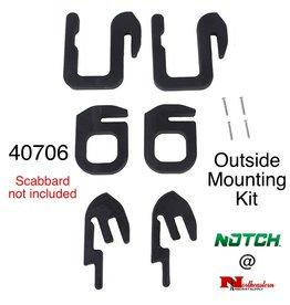 NOTCH Notch Chainsaw Scabbard outside mounting kit - Only