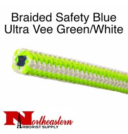 "Teufelberger Braided Safety Blue, Ultra Vee Green/White, 1/2"" x 150', 5,800# MBS"