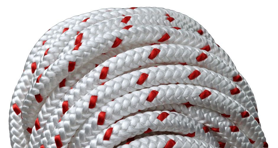 "All Gear Inc. Forestry Pro™ 1/2"" x 150' 12-Strand Polyester White with Red Tracer"