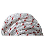 "All Gear Inc. Forestry Pro 1/2"" x 120' 12-Strand Polyester White with Red Tracer"