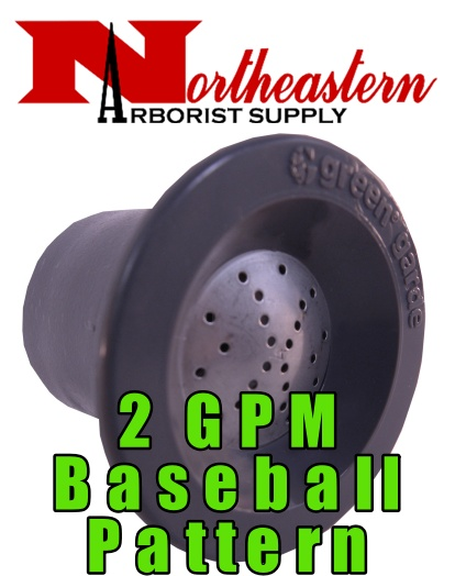 Green Garde® Flooding Nozzle For use with JD9® Gun, 2gpm, Baseball Pattern