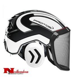 PROTOS Integral Arborist Helmet, Black and White