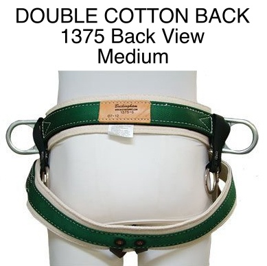 Buckingham Saddle, DOUBLE COTTON BACK #1375 Medium