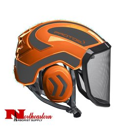 PROTOS Integral Arborist Helmet, Orange and Gray