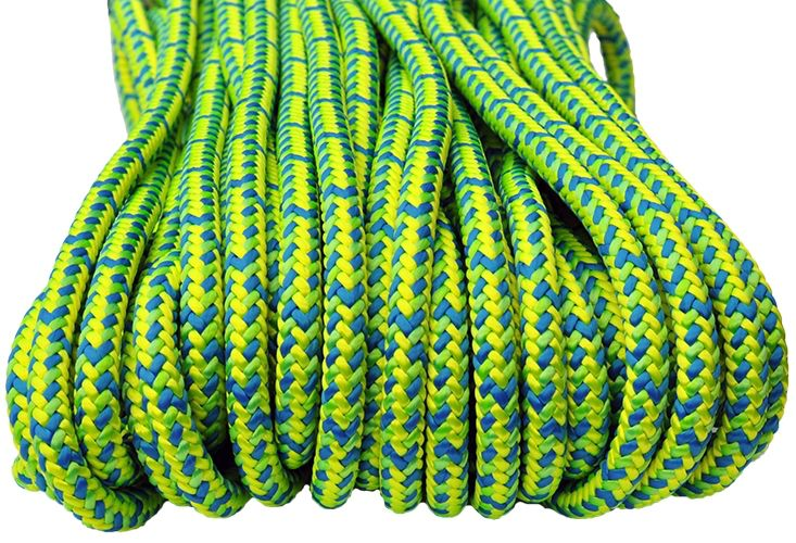 """All Gear Inc. Neolite™ 16-Strand Braided Polyester - Climbing Line 1/2"""" x 150' with EYE 1 End"""