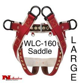 """Weaver Saddle, WLC-160 with 2"""" Nylon Leg Strap, Large"""