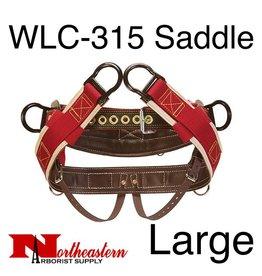 """Weaver Saddle, WLC-315 with 1"""" Heavy-Duty Coated Webbing Leg Straps, Large"""