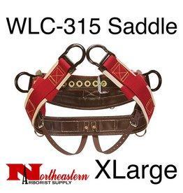 """Weaver Saddle, WLC-315 with 1"""" Heavy-Duty Coated Webbing Leg Straps, Extra Large"""