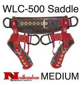 Weaver Saddle, WLC-500 with Padded Nylon Leg Straps Size Medium