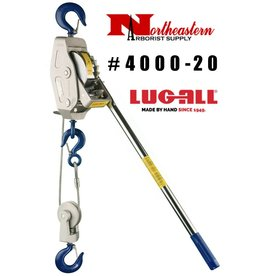LUG-ALL Model 4000-20, 2 Ton Cable Hoist