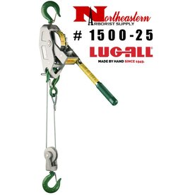 LUG-ALL Model 1500-25, 3/4 Ton Cable Hoist