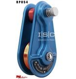 """ISC Block, Aluminum, 5/8"""", Blue, Medium Orange Sheave"""