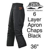 "STIHL® Woodcutter Apron Chaps, 6-Layer, Black, 36"" Length"