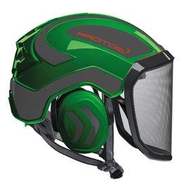 PROTOS Integral Arborist Helmet, Green and Gray