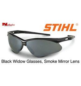 Stihl Black Widow Safety Glasses with Smoke Mirror Lens