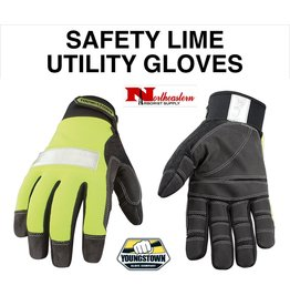 Youngstown Gloves Hi-Viz Safety Lime Utility