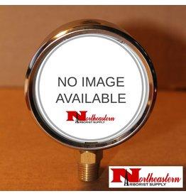 "Hypro® Gauge 0-160 PSI, Filled, Stainless Case 1/4"" NPT Base Mount"