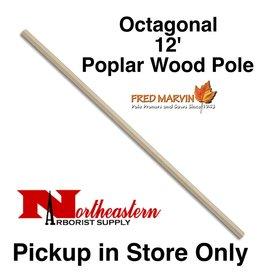 """Fred Marvin Pole, 12' Poplar Wood, 1+¼""""Octagonal"""