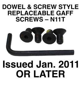Buckingham Climber, Screw Style Gaff Screws Replacement Set-N11T