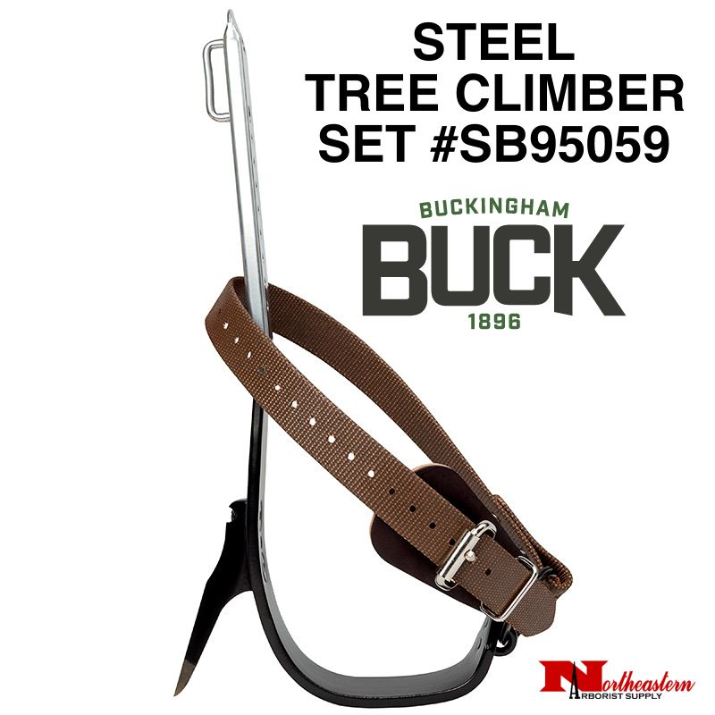 Buckingham Climber Set, Steel-Tree with Pads & Nylon Straps