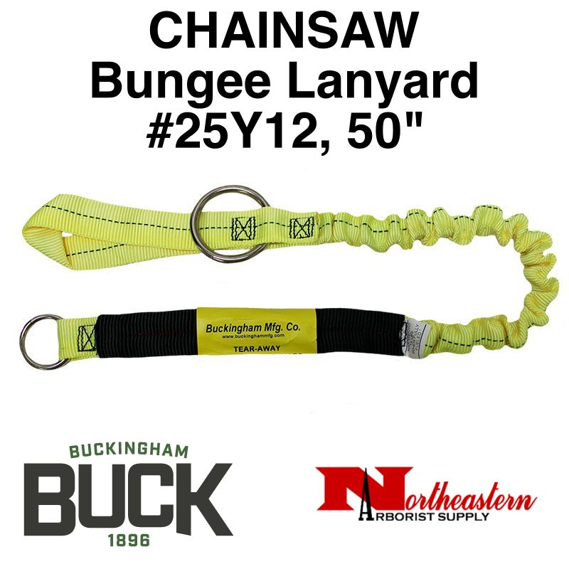 "Buckingham Lanyard, Chainsaw, Bungee 50"" Yellow"
