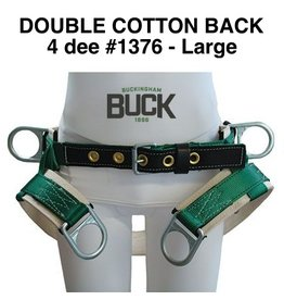 Buckingham SADDLE, 4 Dee Double Thick without leg straps