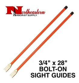 """Sight Guides with Hardware, 3/4"""" x 28"""" Heavy Duty Fluorescent Orange"""