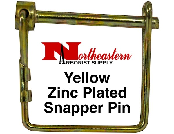 "Bandit® Parts Pin, 1/4"" Diameter x 3"" Usable, Yellow Zinc Plated, Snapper Style Pin"