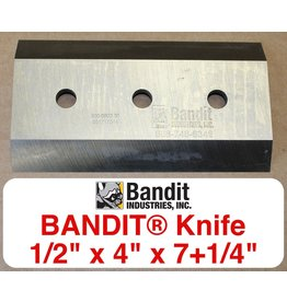 "Bandit® Parts Knife/Blade M150XP-280XP-1/2"" Bolt Hole - 1/2"" Thick x 7+1/4"" x 4"""