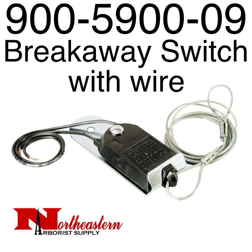 Breakaway Switch with wire & Mount Bracket, 12Volt, 900-5900-09