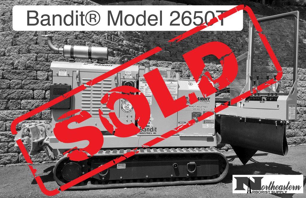Bandit® SOLD - Model 2650T Track Drive Stump Grinder