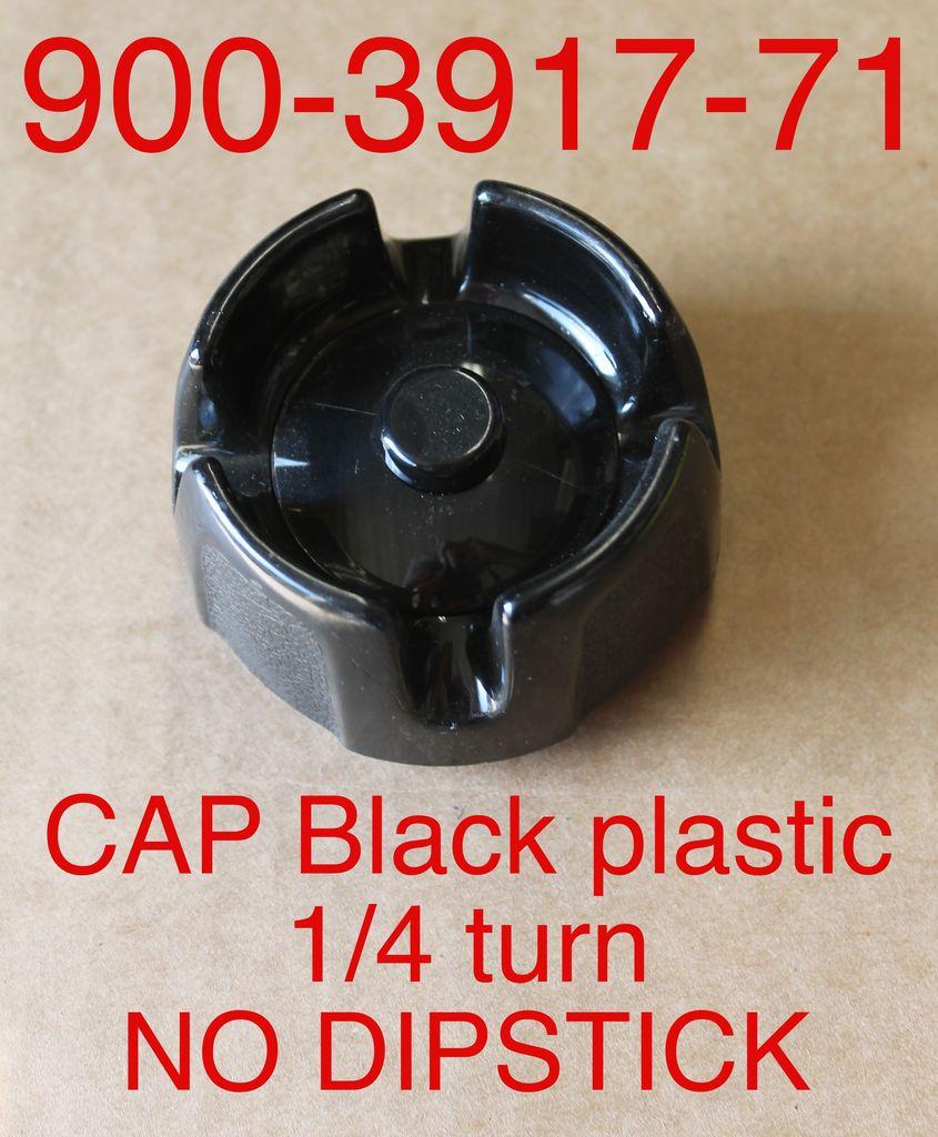 Bandit® Parts Cap Only Black Plastic NO DIPSTICK 1/4-turn for Metal Tanks