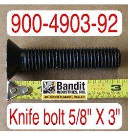 "Bandit® Parts Knife Bolt 5/8"" x 3"" Long, 900-4903-92"