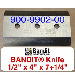 "Bandit® Parts Knife/Blade M150XP-280XP-1/2"" Bolt Hole - 1/2"" Thick x 7+1/4"" x 4"", 900-9902-00"