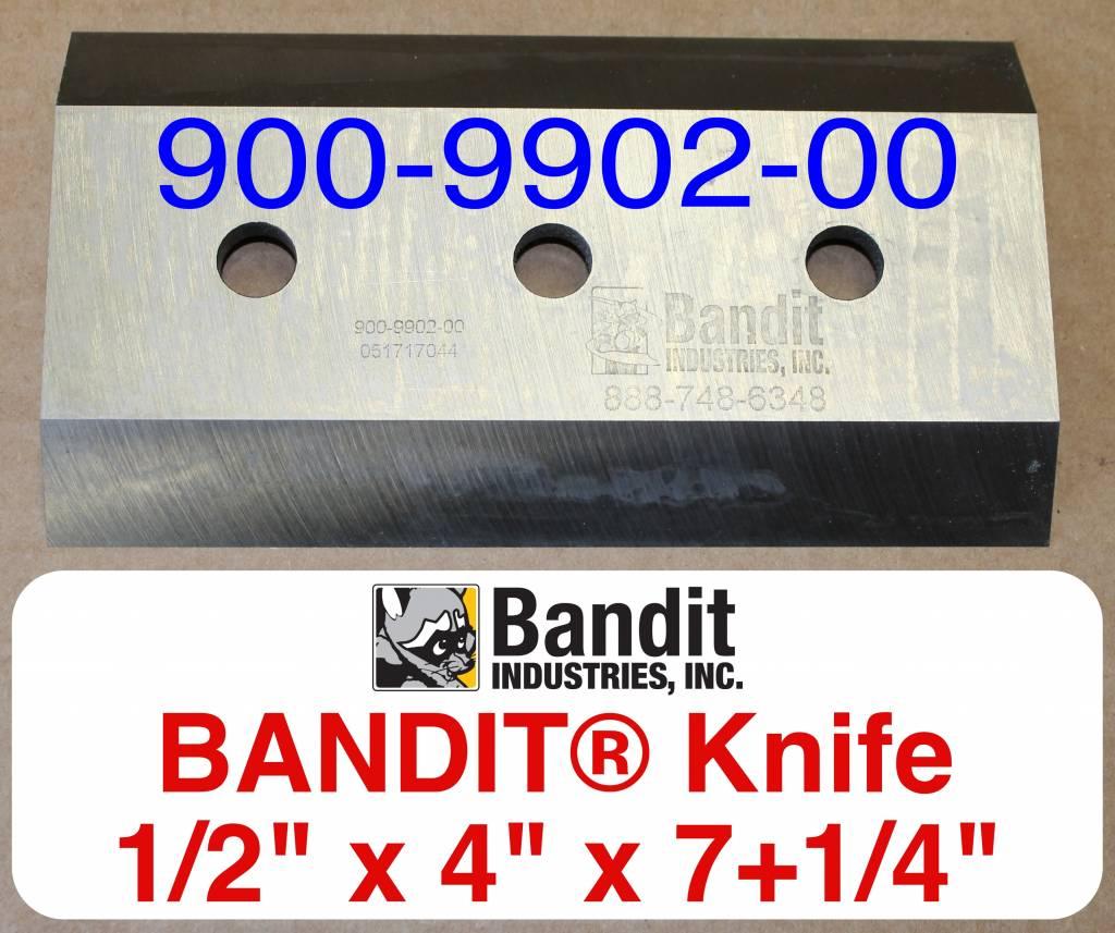 "Bandit® Parts Knife/Blade M150XP-280XP-1/2"" Bolt Hole - 1/2"" Thick x 7+1/4"" x 4"""