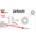 """Bandit® Parts Blade (Knife) Nut, 1+1/16"""" for Knives 4+1/2"""" Wide 5/8-11 180 Ft-Lbs, of Torque"""