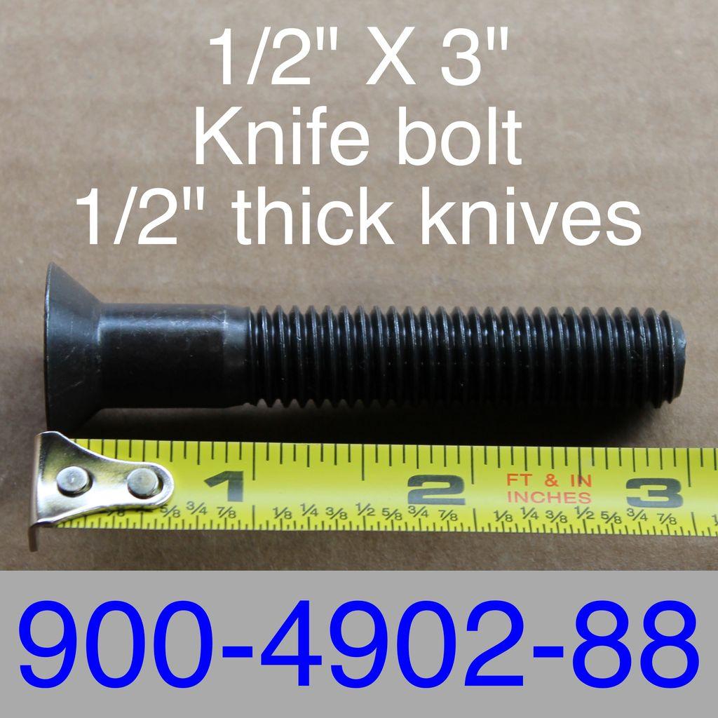 """Bandit® Parts Blade Bolt 1/2"""" x 3"""" 900-4902-88"""