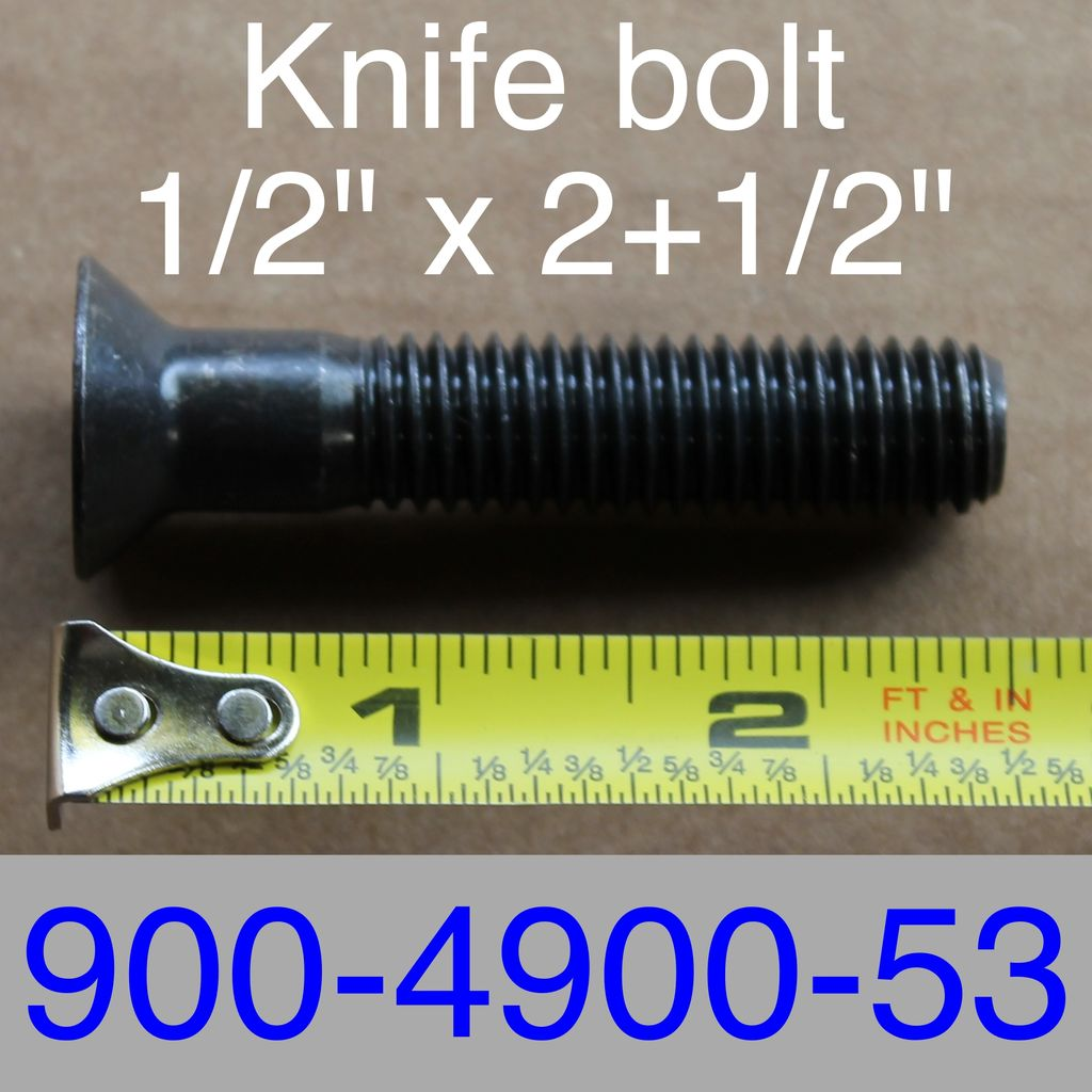 "Bandit® Parts Blade Bolt 1/2"" x 2+1/2"" Long, use with 3/8"" Thick Blades Only 900-4900-53"