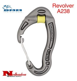 DMM Revolver Wiregate, Carabiner, Accs. 24Kn Not PPE Titanium Color
